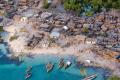 تصویر روستای ساحلی زیبایی در آفریقا